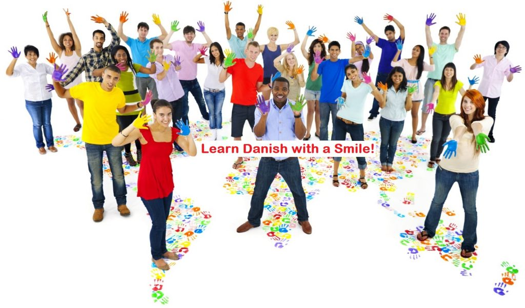 Students from all over the world learning Danish with a smile